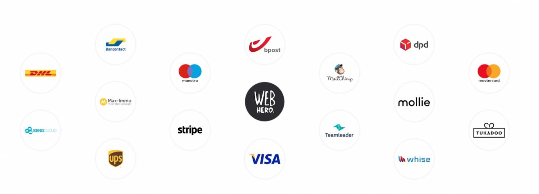 webshop starten - webhero integraties